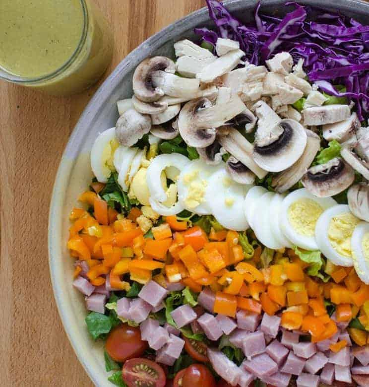Rainbow Salad with Honey Mustard Dressing