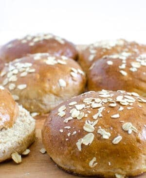 Homemade Whole Wheat Buns have got to be on your list for this summer! Tender, soft, and delicious and perfect for a juicy burger or some grilled chicken!