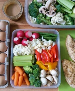 Prepping a veggie box once a week will make your life easier, increase your vegetable intake, and round out all of your meals.