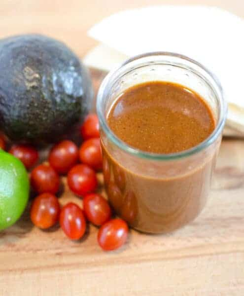 Quick and easy Homemade Red Enchilada Sauce made from simple things from your pantry like oil, chili powder, and broth in about 15 minutes.