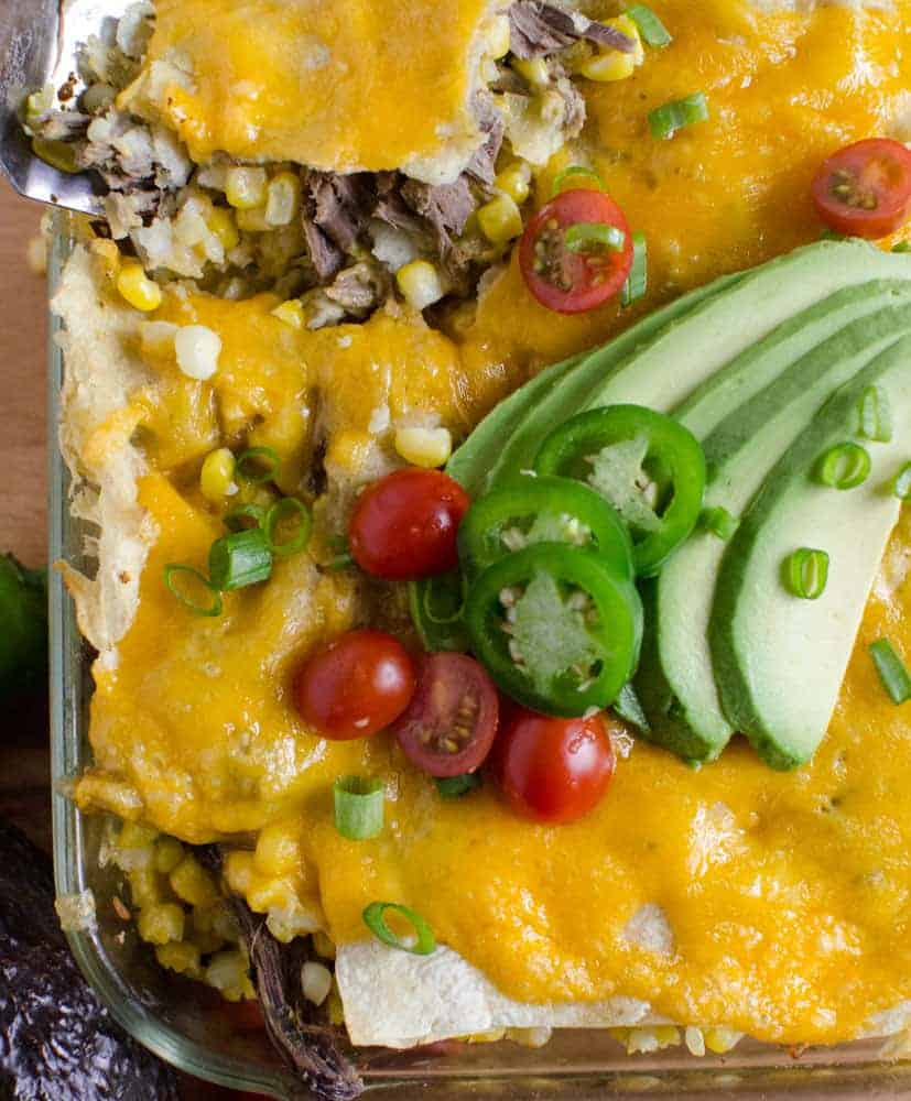 Corn Enchilada Bake