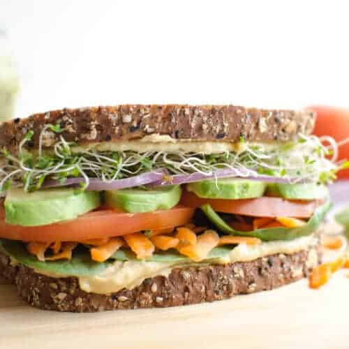 The Ultimate Hummus and Veggie Sandwich
