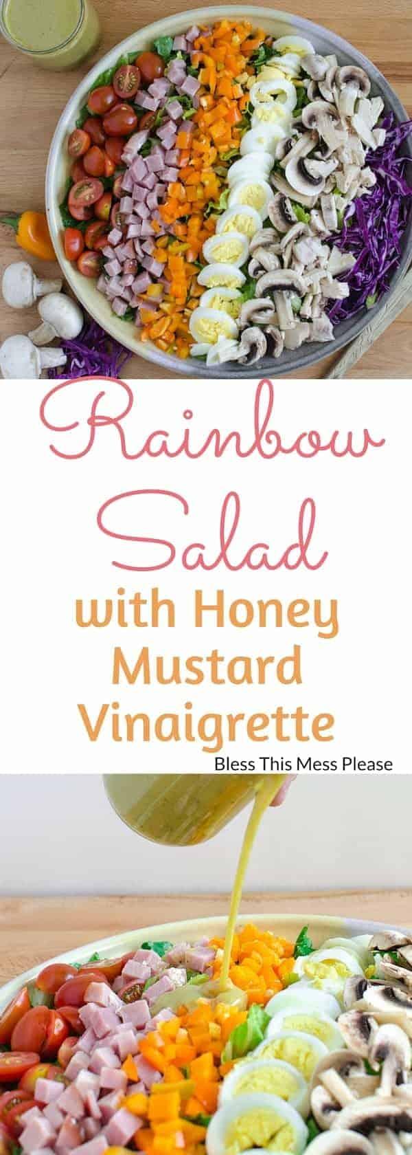 Rainbow Salad with Honey Mustard Vinaigrette