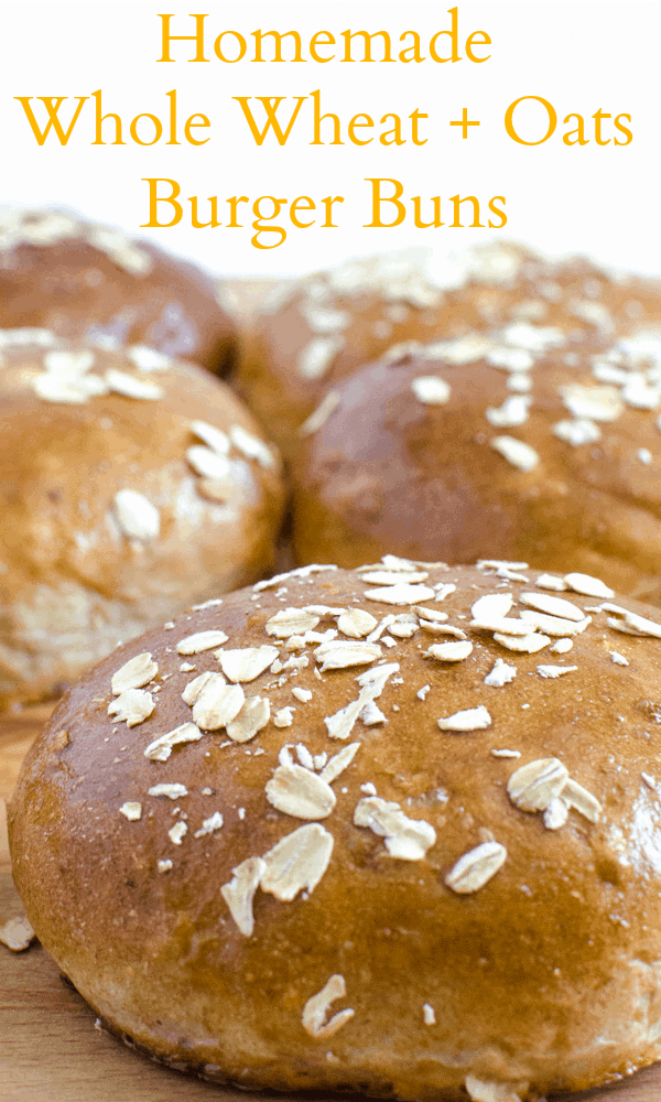 Homemade Whole Wheat and Oat hamburger bun recipe that tastes amazing!