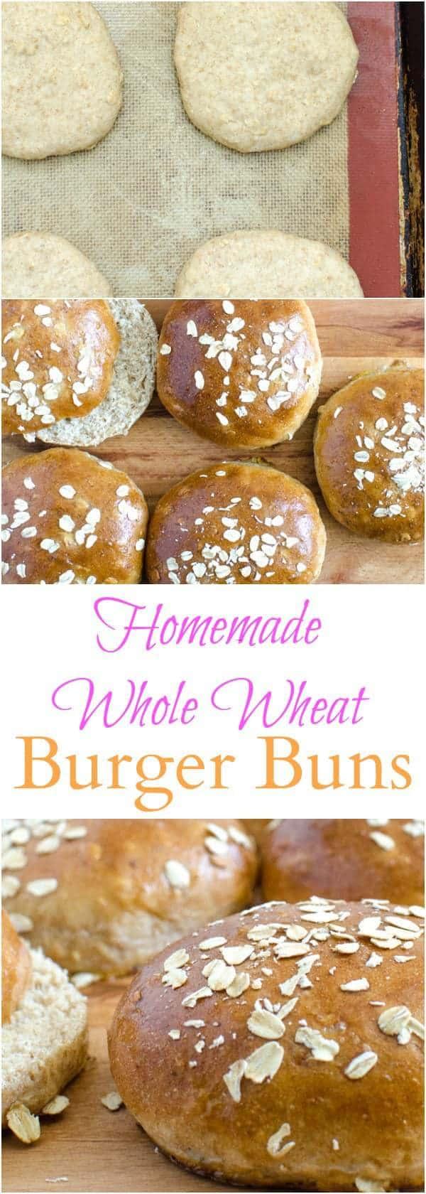 Homemade Whole Wheat hamburger bun recipe that tastes amazing!