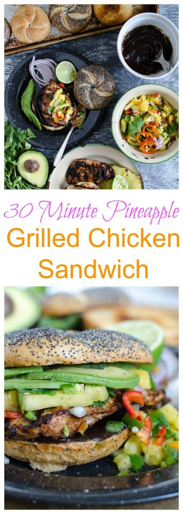 Weeknight Grilled Chicken Sandwiches with Pineapple Salsa Recipe (30 Minute Meal)