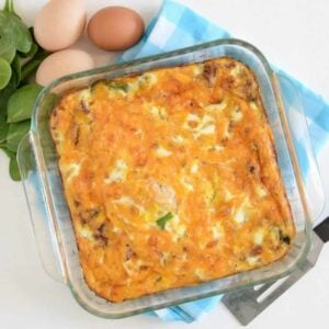 Image of vegetable and cheese egg bake