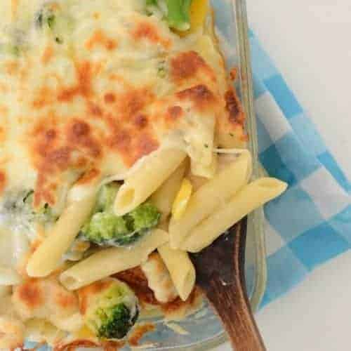 Image of chicken and vegetable baked pasta