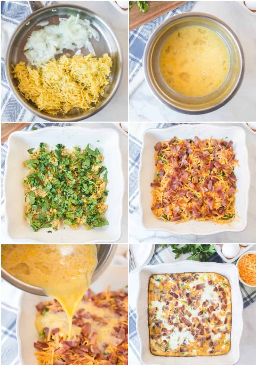 bacon vegetable and cheese bake recipe how to image