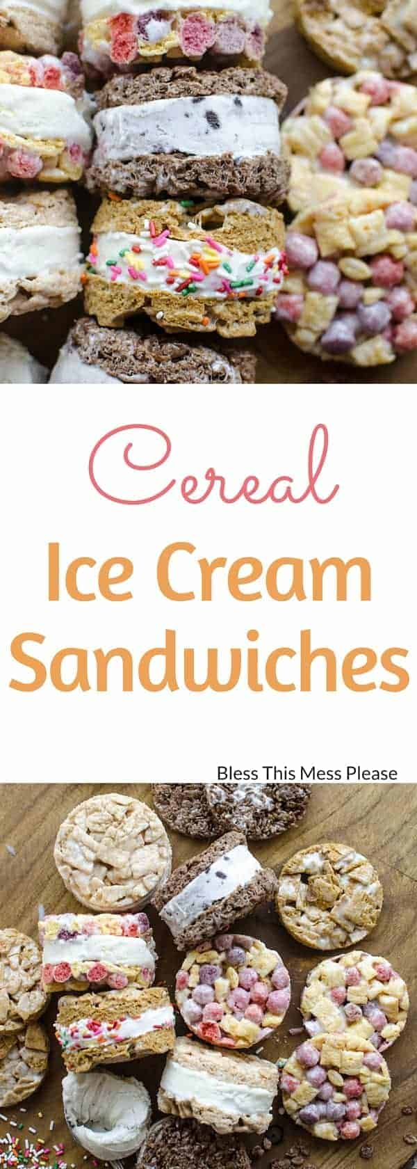 Cereal Ice Cream Sandwiches