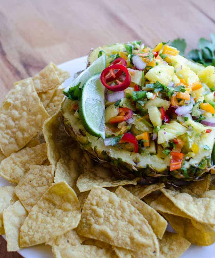 Pineapple salsa is salty, sweet, spicy, and savory.