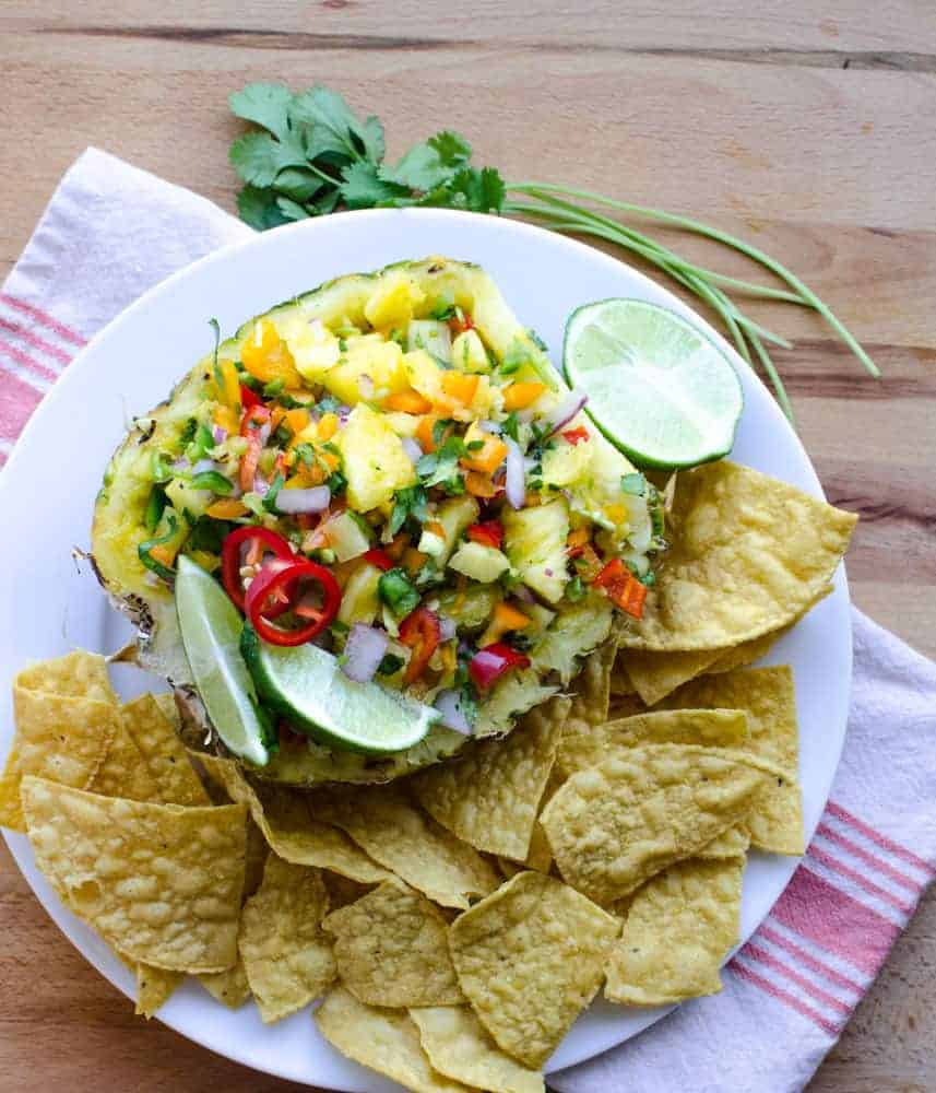 Pineapple salsa - Serve it with chips or over your favorite Tex-Mex recipe.
