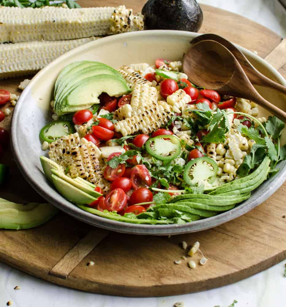 Grilled Corn and Avocado Salad is perfect for summer.