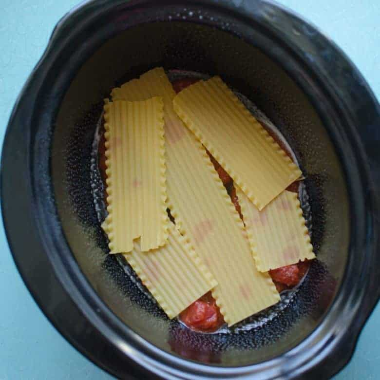 Easy Slow Cooker Vegetable Lasagna
