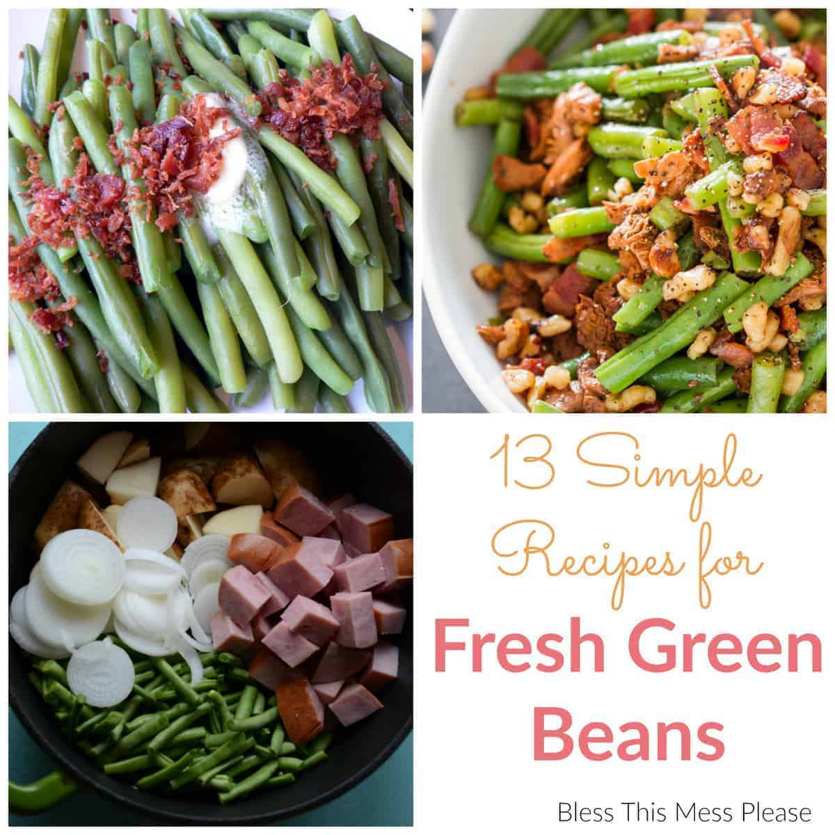 Fresh Green Beans-Collage