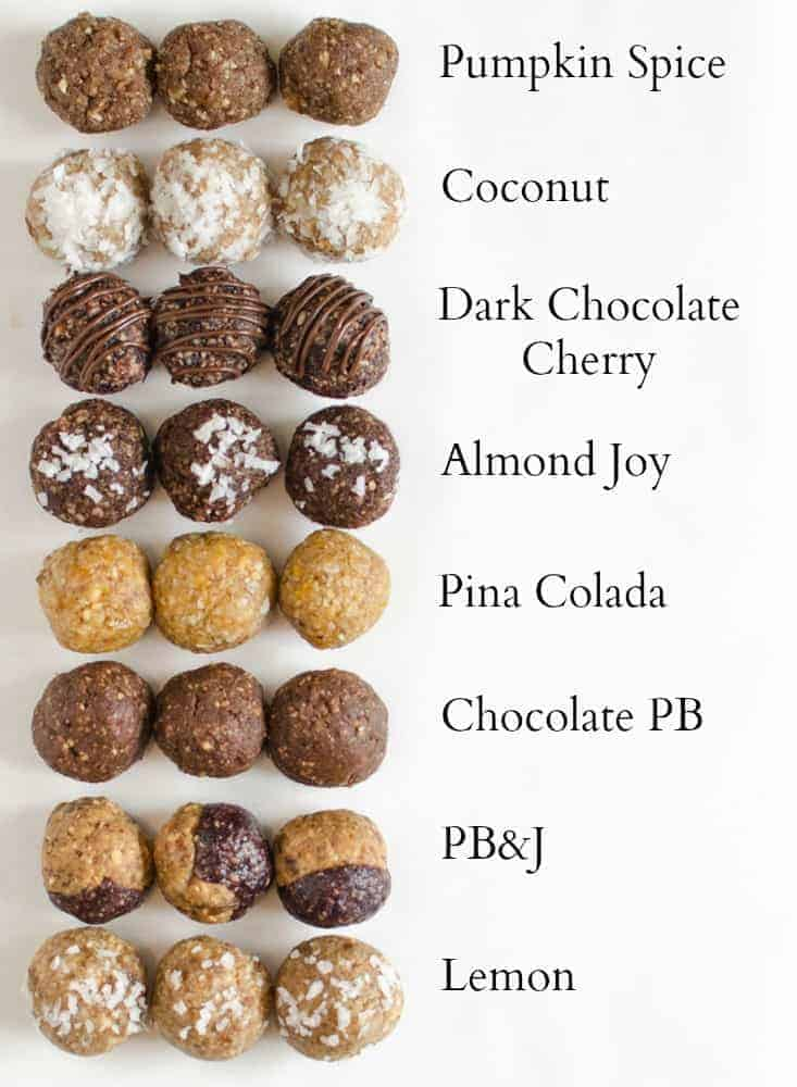 9 Energy Bites Recipes that everyone needs! These simple treats are healthy eating/snacking/dessert perfection, & I have a batch in my freezer at all times.