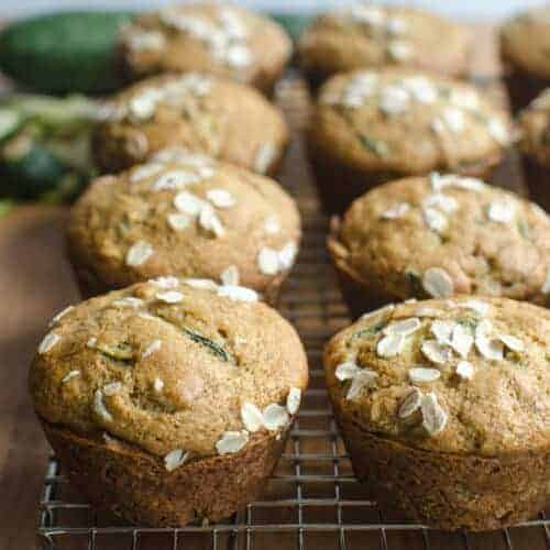 Healthy Whole Grain Zucchini Muffins