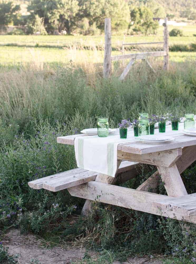 Simple party decor ideas for a summer dinner party!
