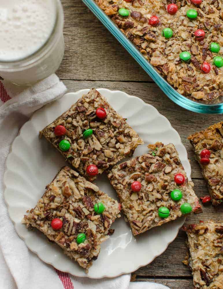 christmas magic cookie bars bless this mess - Christmas Bar Cookies