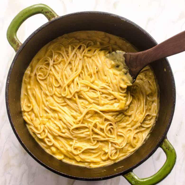 One Pot Creamy Pumpkin Pasta