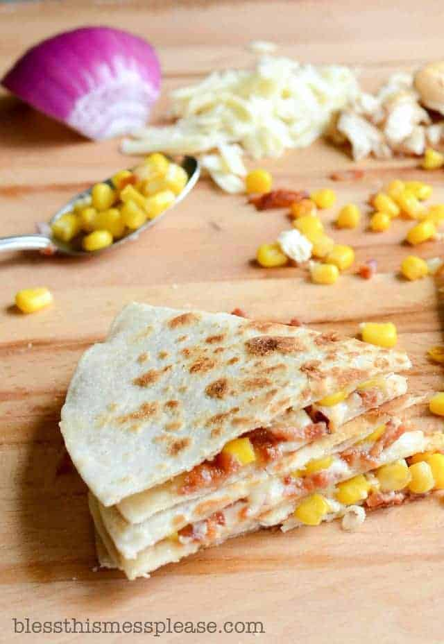 Bacon and Corn Quesadillas