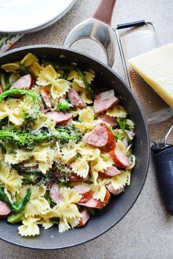 One Pot Dinner - Broccoli Pasta with Kielbasa