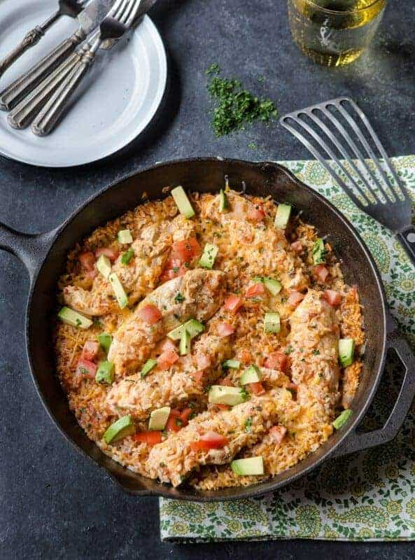 One Skillet Meals - Santa Fe Chicken and Rice