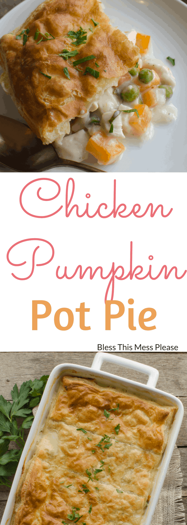 Chicken Pumpkin Pot Pie