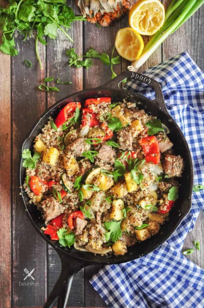 One Skillet Meals - Pineapple Tuna Quinoa Skillet