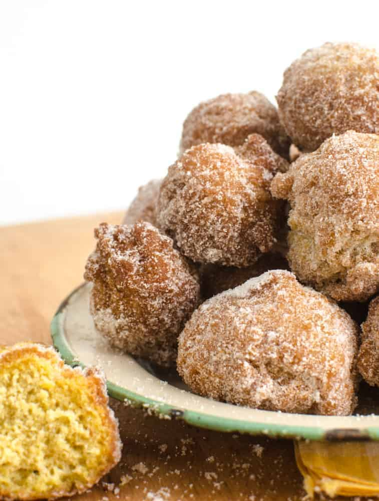 Perfect pumpkin donut holes that are done in about 15 minutes!
