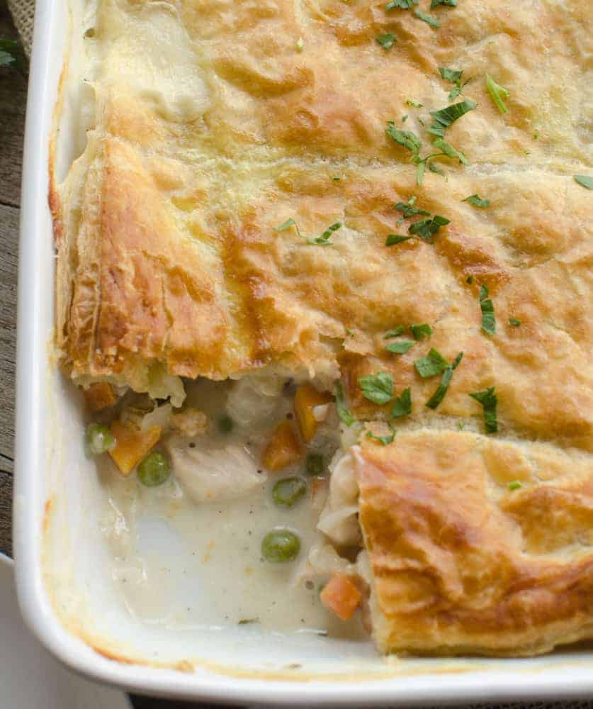 Easy Chicken Pumpkin Pot Pie