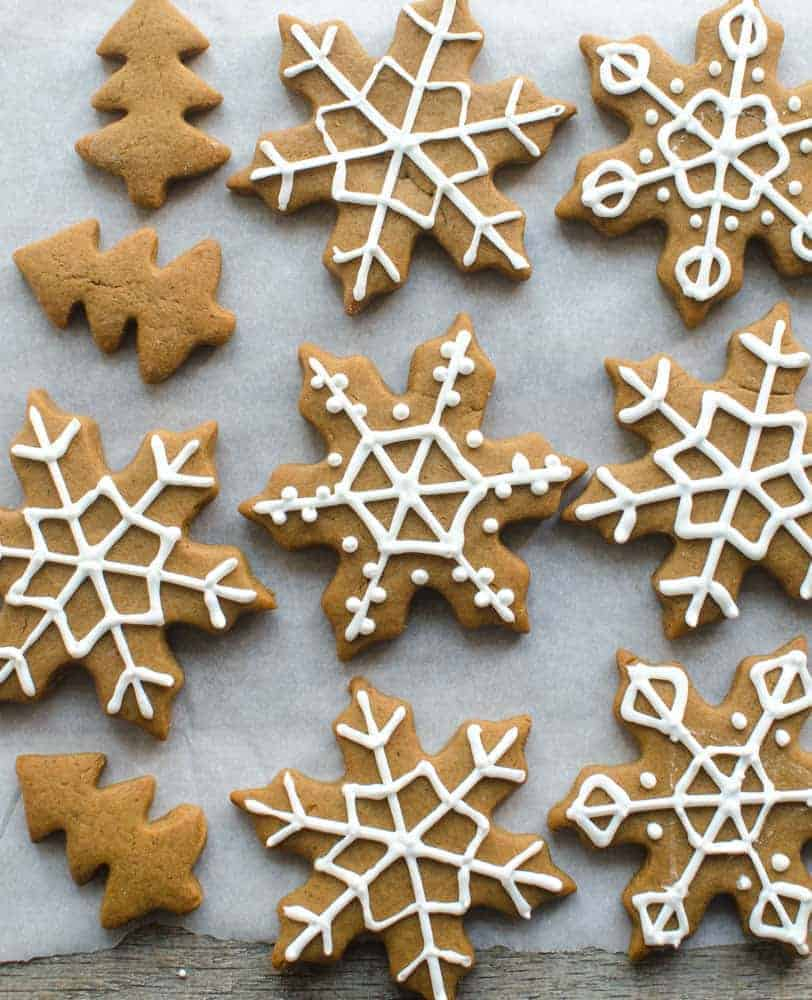 Soft Gingerbread Snowflakes