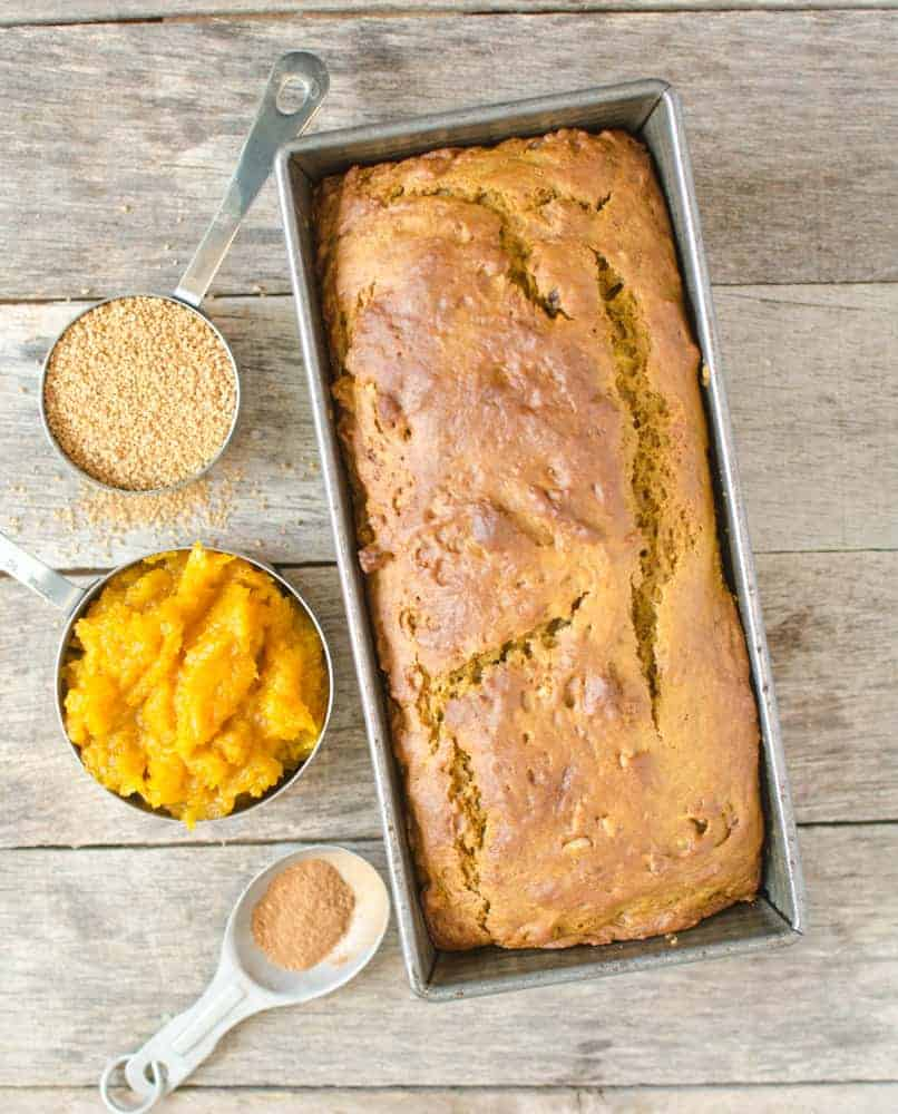 Low-sugar pumpkin bread is full of flavor without the guilt.