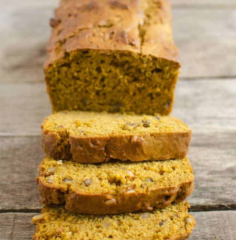 Naturally Sweetened Low-Sugar Pumpkin Bread