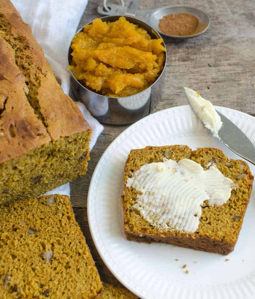 Low-sugar pumpkin bread has an amazing texture, and the spices are just right.