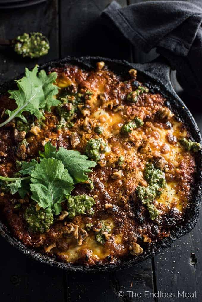 One Skillet Meals - Vegetarian Skillet Lasagna