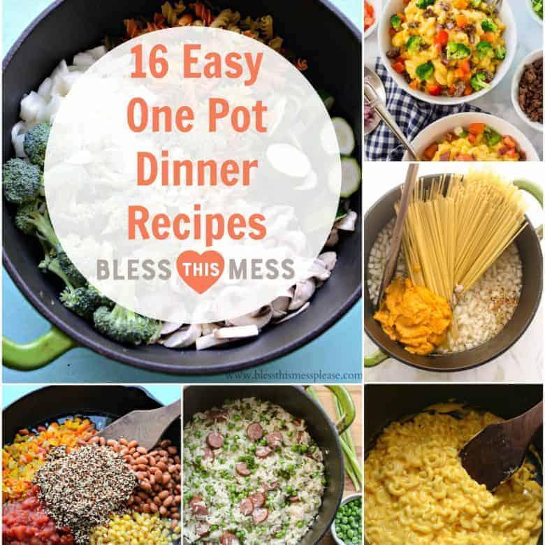 16 Easy One Pot Dinner Recipes