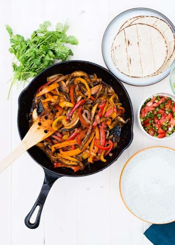 One Skillet Meals - Portobello Fajitas