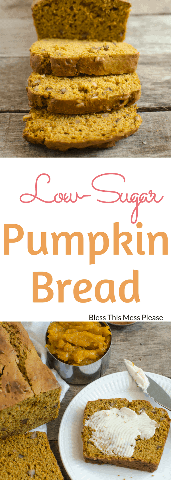 Low-Sugar Pumpkin Bread
