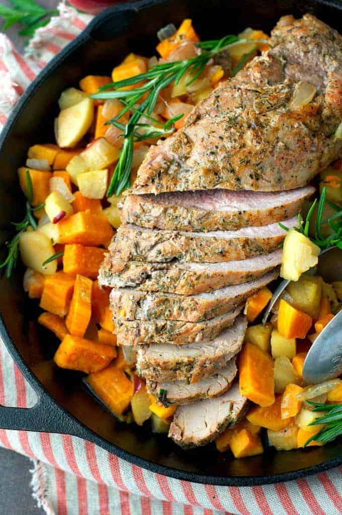 Italian Pork Tenderloin With Roasted Sweet Potatoes Recipe ...