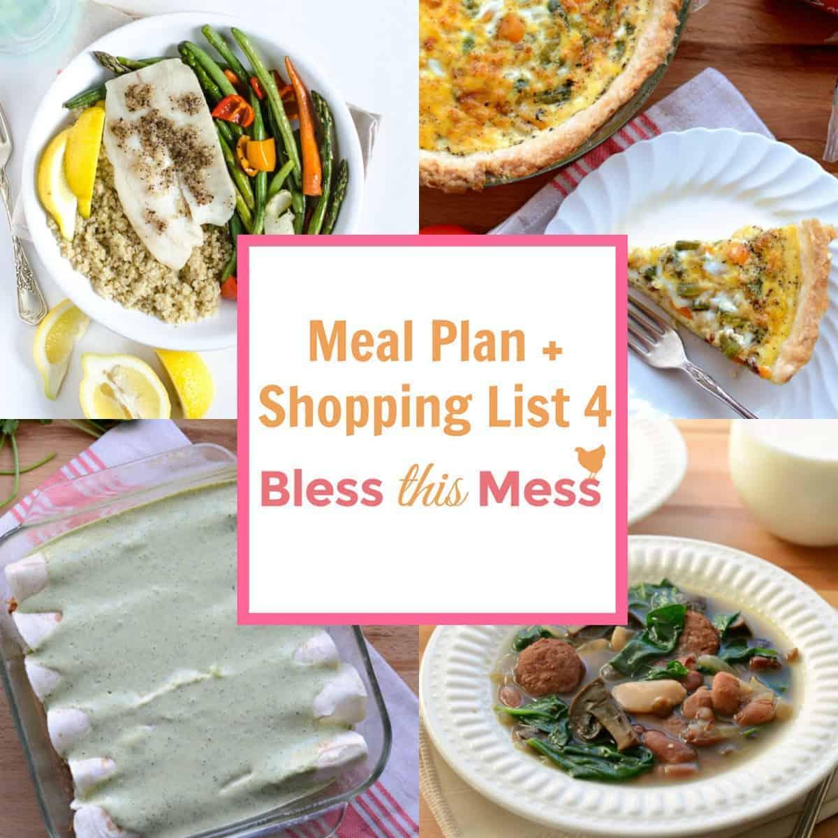 Family Meal Plan - Week 4
