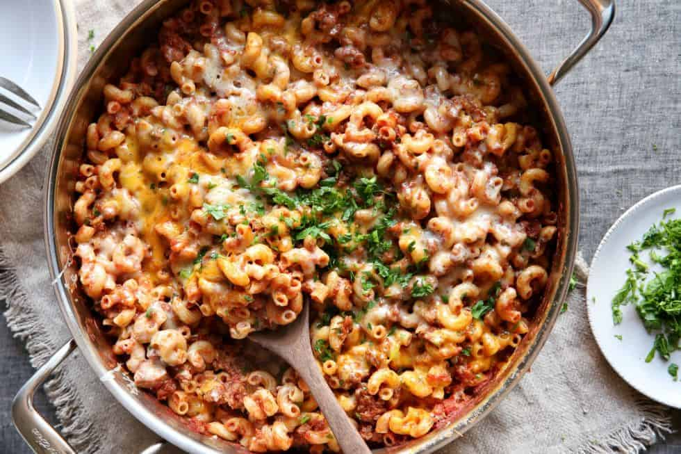 One Skillet Meals - Skillet Cheeseburger Mac and Cheese