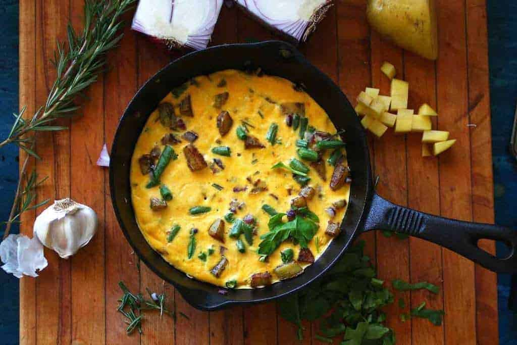 One Skillet Meals - Green Bean Frittata