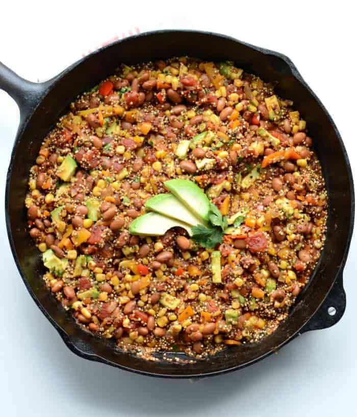 One Skillet Meals - Healthy One Pot Quinoa Taco Casserole