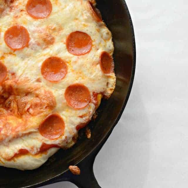 One Skillet Meals - Deep Dish Skillet Pizza
