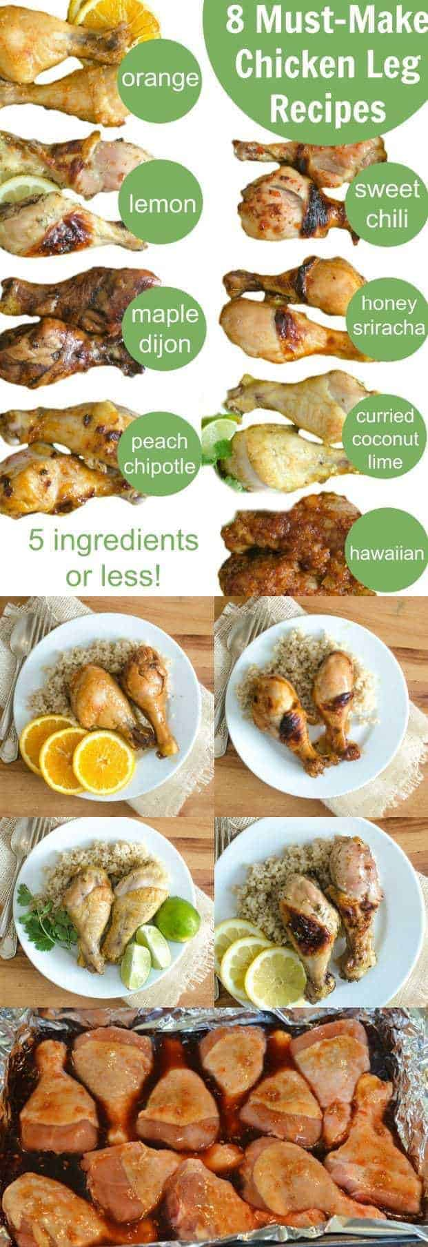 5 Ingredient or Less Chicken Leg Recipes