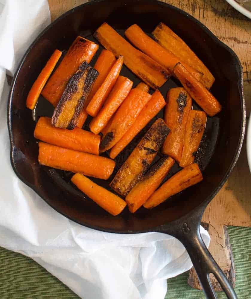 Five Ingredient Sides - Pan Seared Carrots