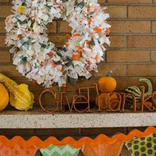 DIY Fall Rag Wreath