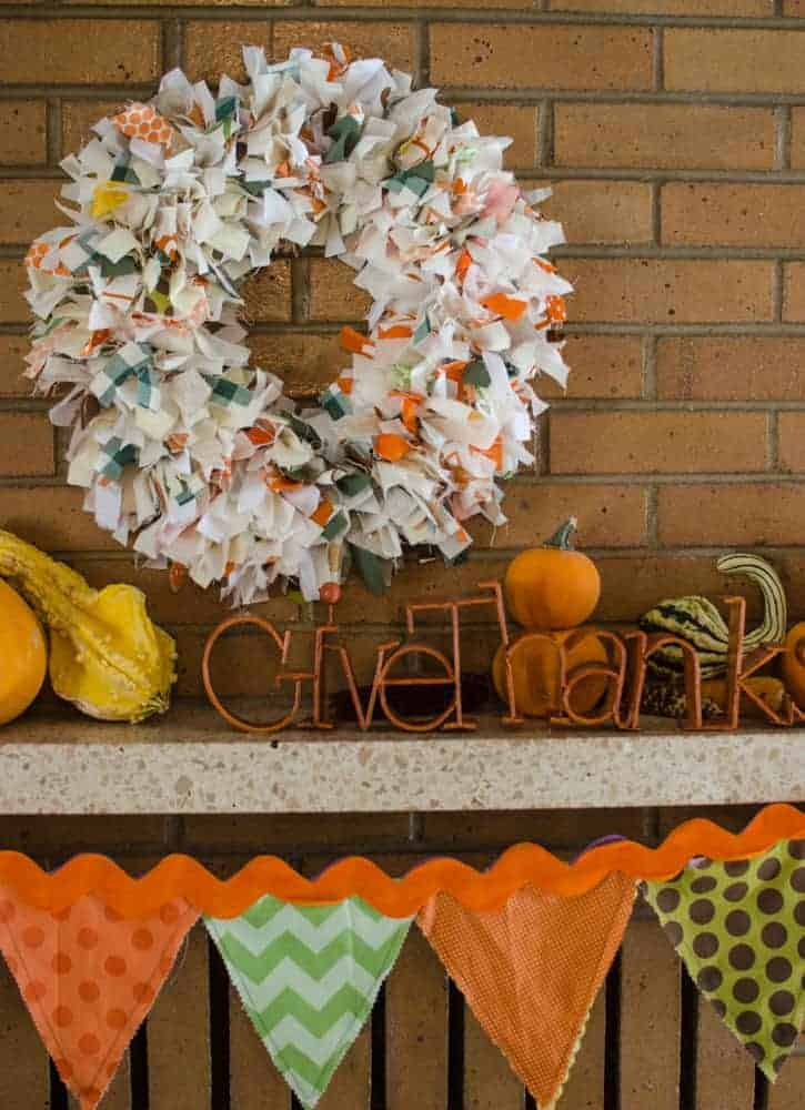 DIY Fall Rag Wreath