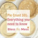 Image of four perfect pie crust